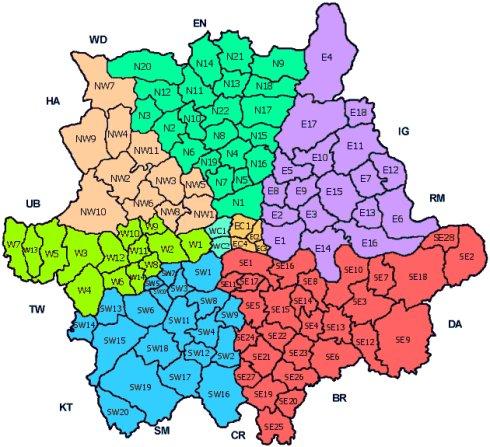 英国西北详细地图