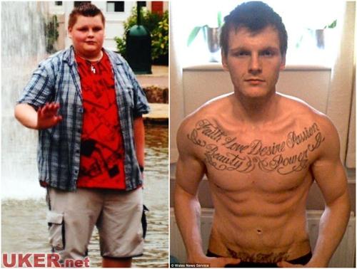 英国男子70天逆袭成男神 减肥效果相当惊人
