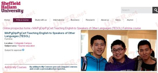 谢菲尔德哈勒姆大学发布专业更名通知